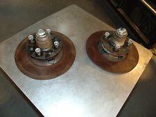 1966-70 Datsun Roadster Front Hubs W/Rotors Lug  Nuts-Matched Set- Nice Shape-T2
