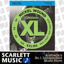 D'Addario EXL165 Nickel Wound Long Scale Bass Guitar Strings 45 - 105 EXL 165