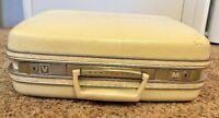 "Train Case Samsonite 16"" White Silhouette Suitcase Travel Carry On Vintage RARE"