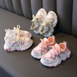 ✅Toddler Infant Kids Baby Girls Mesh Breathable Lace Up Soft Shoes Sneakers