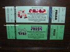 (2) PHISH Unused 1999 Concert Tickets SHORELINE AMPHITHEATRE Anastasio GRAPHICS