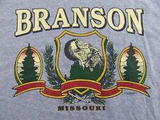 Vintage BRANSON MISSOURI Howlin Wolf Vacation Souvenir Blue SS T Shirt Size XL