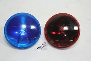 Police passing lamps RED BLUE bulbs FXRP FLHP Harley Law Enforcement  EPS22548