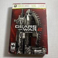 Gears of War 2 Limited Collector's Edition Tin Steel (Xbox 360, 2008) - Complete