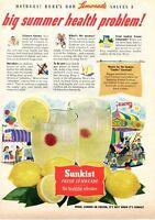 1952 Print Ad of Sunkist Lemonade how to solve a big summer health problem