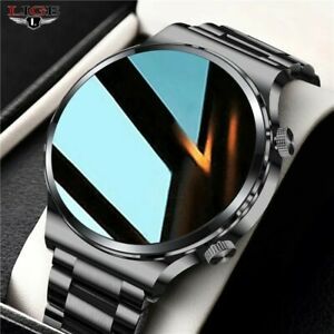 LIGE Men's Smart Watch Bluetooth Call Watch IP67 Waterproof Heart Rate...