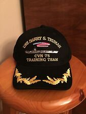 US NAVY USS HARRY S. TRUMAN CVN-75 COMMANDER EMBROIDERED HAT TRAINING TEAM
