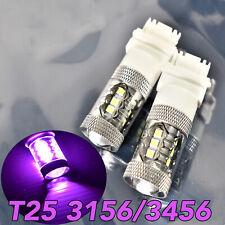 Reverse Backup Light T25 3156 3456 4156 80W LED Purple Bulb Lamp W1 JA