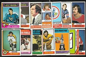 1974-75 OPC 74-75 O PEE CHEE NHL HOCKEY CARD ERROR & WRONG BACK 133-264 SEE LIST