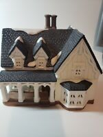 Heartland Valley Village Christmas Lighted Victorian White House Vintage