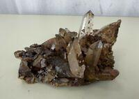 Natural Amethyst Geode Quartz Cluster Crystal Specimen1 pound + Brown Tans