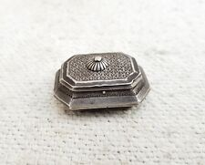 Vintage Silver Opium/Tobacco Keeping Case Indo-Persian Hand Carved Collectable