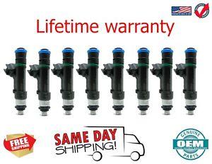 X8 Genuine OEM Bosch Fuel Injectors CADILLAC STS 2007 - 2010 4.6L V8 0280158083