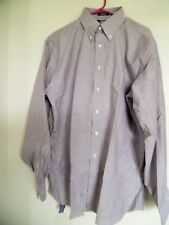 NEW Stafford Oxford Wrinkle Free Athletic Fit Long Sleeve Dress Shirt 17 1/2  -
