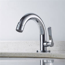 Bathroom Sink Faucet Brass Single Handle Lavatory Water Tap One Hole Chrome US