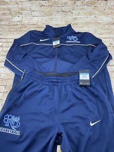 Men's Nike Notre Dame Fighting Irish Basketball Warm Up Suit - Jacket Pants Med