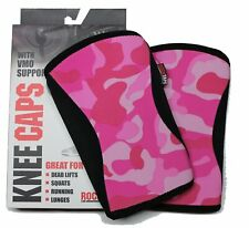 Rocktape Knee Caps with VMO Support, 5mm, Pink Camo, Large
