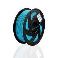 1KG, PLA, Filament 1,75 mm Glühend  Blau 3D Drucker Printer, mit Spule/Rolle, DE