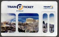 Greece ATHENS Train Personal Ticket Card