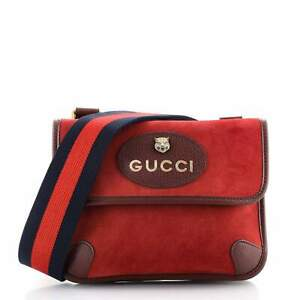 Gucci Neo Vintage Flap Messenger Suede Small