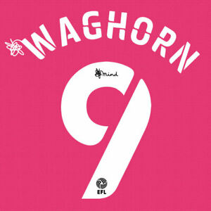 2020 2021 OFFICIAL DERBY COUNTY THIRD NAME SET WAGHORN 9 = PLAYER SIZE