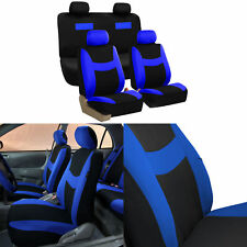 Car Seat Covers Blue Black Complete Full Set For Auto Vehicle Upholstery