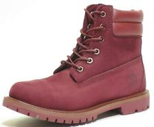 Timberland Womens 6 Inch Burgundy / Red Waterproof Double Sole Boots Style A1H84