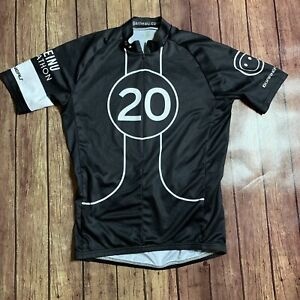 Louis Garneau Half Zip Cycling Jersey Black Men's Medium
