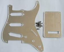 Silver Mirror Vintage Strat 8 Hole Guitar Pickguard Back Plate Set for USA Strat