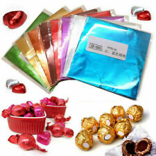 100pcs Chocolate Foil Paper Aluminum Wrappers Candy Sweets Package Wedding Decor