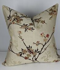 John Lewis Blossom Weave Fabric Handmade Cushion Cover Red Double Sided