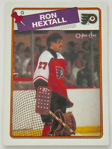 1988-89 O-PEE-CHEE HOCKEY Ron Hextall Card #34 NM Flyers Islanders Nordiques NHL