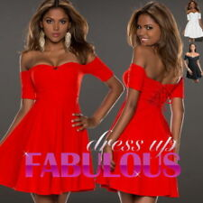 Polyester/Spandex Short Off the Shoulder Dresses for Women