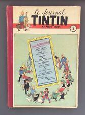 Le journal de Tintin reliure n°5 du n°69 à 85. 1950