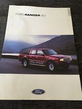 2001 Ford Ranger XLT Pick Up Truck UK Car Brochure