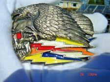 Eagle and skull belt buckle