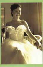 Postcard Nostalgia Nottingham Lace 1952 Margaret Thompson Fashion Repro Card