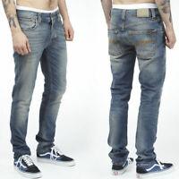 Nudie Herren Slim Fit Stretch Jeans Hose |Grim Tim Organic Crispy U. |W33 L34