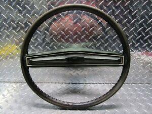 1971 1972 1973 Mercury Cougar Factory OEM 2-Spoke Leather Steering Wheel Green