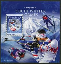 SIERRA LEONE 2016 CHAMPIONS OF THE SOCHI WINTER OLYMPIC GAMES S/S  MINT NH