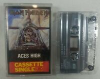 """1984 Iron Maiden """"Aces High"""" Audio  Cassette Single UK Import """"Number of Beast"""""""