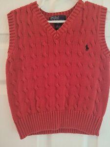 Ralph Lauren Red Cable Sweater Vest
