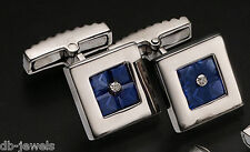 Cufflink 14k  white gold/diamonds   002