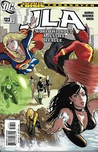 JLA  Comic 123 Cover A Acuna First Print 2006 Bob Harras Tom Derenick Green DC