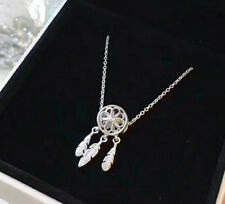 Sterling Silver Dreamcatcher Pendant Necklace with 45cm Chain - pandora