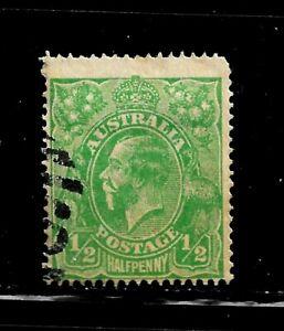 HICK GIRL-USED AUSTRALIA STAMP   SC#60  1918  KING GEORGE V     D969