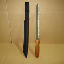 472: Dämmstoffmesser 280 mm Nylon Tasche Wellenschliff doppelseitig grob u.fein