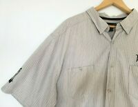 Harley Davidson Mens 3XL Gray Button Down Short Sleeve Shirt