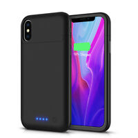 6500mAh for iPhone X 10 Smart Power Case External Battery Backup Charger Cover