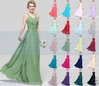 New Formal Long Chiffon Evening Ball Gown Party Prom Bridesmaid Dress Size6 - 18